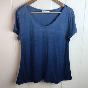 3/$27 We Norwegians Blue Ombré Scoop Neck T Shirt